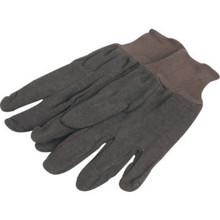 "Large Brown Jersey Glove ""Pkg Of 3 Pr"""