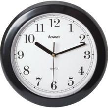 "8"" Analog Wall Clock - Black"