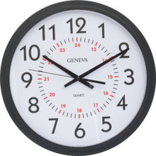 "14"" Info-Tech Wall Clock With 24 Hours"