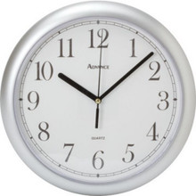 "10"" Advance Silver Plastic Wall Clock"
