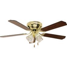 "52"" Clng Fan HM Plshd Brass Tlp Lgt"