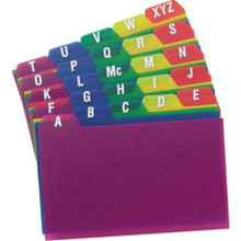 "Polycard Assorted 3-5"" A-Z ""Pkg Of 24"""