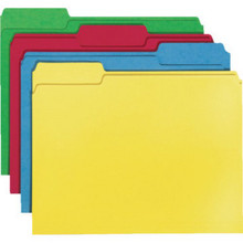 "File Folders Ltr Assorted ""Pkg Of 100"""