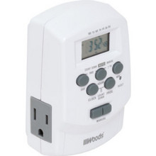 Digital Timer W/ Two 3 Prong