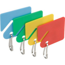 "Colored Plastic Key Id Tags""Pkg Of 20"""