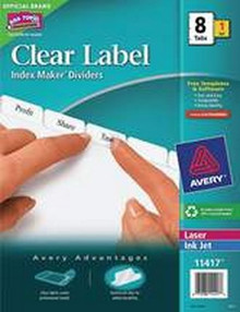 Label Divid With Tabs Tabs 3H 8 Tabs