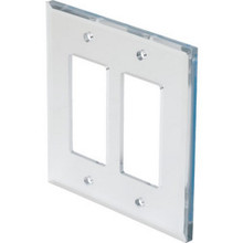 Double Deco Mirror Finish Wall Plate