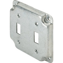 """4"""" Square Raised Switch Plate Double Togle"""