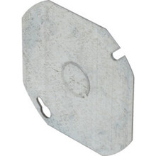 """Octagon Cover Plate 4"""" W/ Knockout"""