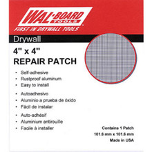 "4X4"" Self Adhesive Wall Patch ""Pkg Of 6"""