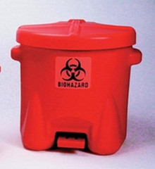 "22""X18""X18"" Red Poly 10 Gal Biohazard"