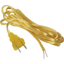 "8' Gold Cord Set With Plug ""Pkg Of 6"""