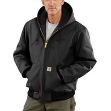 3X Tall Blk 12 Ounce Cttn Jacket Zipclosure