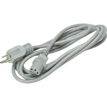 18/3 10' Hospital Grade Power Cord-Gray