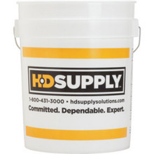 5 Gal White Hds Logo Bucket