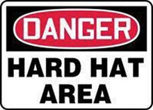 "7X10 Sign Pers ""Danger Hard Hat"