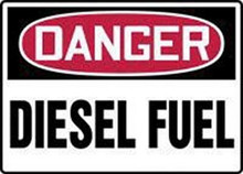 "10 X 14"" Ss Poly ""Dng Diesel Fuel"" Sign"
