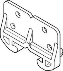 """White Plastic Drawer Guide """"Pkg Of 25"""""""