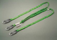 6' Grn Two Leg Hp Stretch Web Lanyard