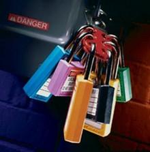 """Blue #411 3"""" Safety Lockout Padlock"""