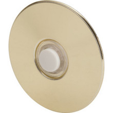 Stucco Push Button Polished Brass Chime