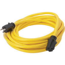 100' 12/3 Sjtw Yellow Extension Cord