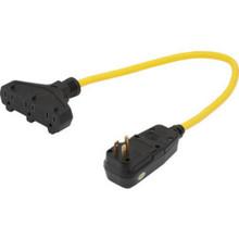 2' 12/3 Stjtw Triple Tap Adapter W/Gfci