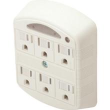 6-Outlet Plug-In Power Tap W/Nightlight