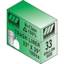 """33 Gal Hvy Duty Trash Liner """"Pkg Of 100"""""""