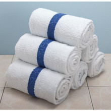 "Blue Stripe Towel 24X50 10# ""Pkg Of 12"""