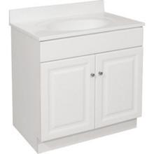 """24 X 18"""" 2 Door White Bath Vanity"""
