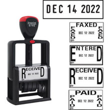5-In-1 Self-Inking Date/Message Stamp