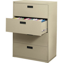 """36"""" Wide 4 Drwr Lateral File Cabnt-Putty"""