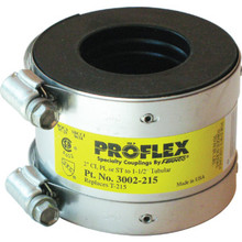 "Fernco Flexible Proflex Coupling For DWV Pipe Connection 2"" x 1-1/2"""