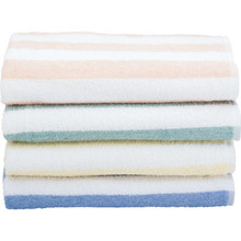 Fibertone Cabana Stripe Pool Towel 30x70 15Lb/Doz Porcelain Blue Case Of 24
