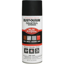 12 Ounce Rust-Oleum Industrial Choice Enamel Semi Flat Spray Paint - Black