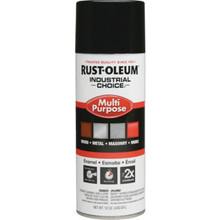 12 Ounce Rust-Oleum Industrial Choice Enamel Gloss Spray Paint - Black