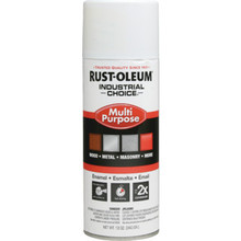 12 Ounce Rust-Oleum Industrial Choice Enamel Flat Spray Paint - White