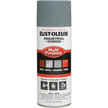 12 Ounce Rust-Oleum Industrial Choice Enamel Flat Spray Paint - Gray
