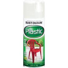 12 Ounce Rust-Oleum Plastic Spray Paint - White