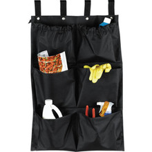 6 Pocket Housekeeping Cart Caddy Black