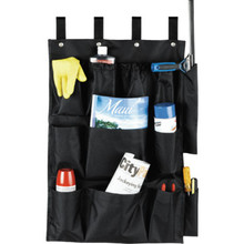 12 Pocket Housekeeping Cart Caddy Black