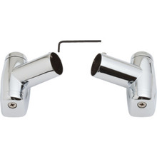 Crescent Replacement Pivot Bracket Set Polished Chrome
