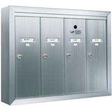 Auth Florence Surface Mount Vertical 4-Door Mailbox-Aluminum