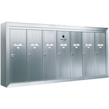Auth Florence Surface Mount Vertical 7-Door Mailbox-Aluminum