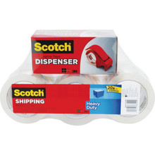 Scotch Heavy Duty Packaging Tape And Dispenser 6 Per Package