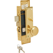 Marks Metro Entry Mortise Lock Left Hand Brass