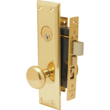 Marks Metro Entry Mortise Lock Right Hand Brass