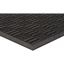 2 x 3' Outdoor Floor Mat Black Apache Aqua Flow