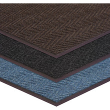 3 x 10' Indoor Floor Mat Charcoal Apache Chevron Ribbed